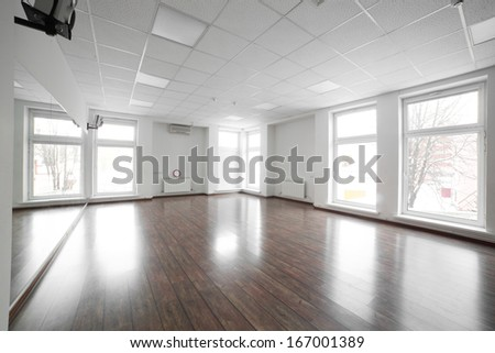 fitness room in the luxury sport club - stock photo