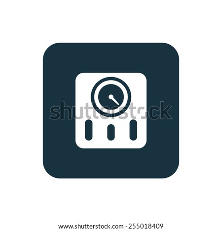 fitness scales icon Rounded squares button, on white background  - stock photo