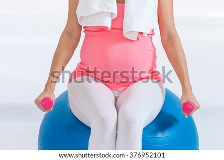 Fitness, sport and lifestyle concept for  pregnant women  - stock photo