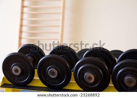 fitness studio - stock photo