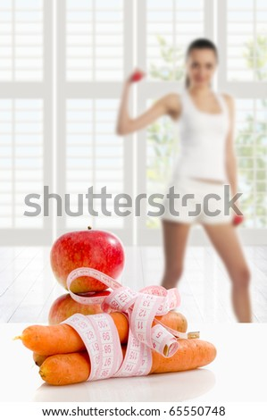fitness time - stock photo