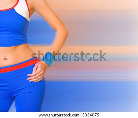 Fitness trainer - stock photo