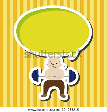 fitness trainer, cartoon speech icon