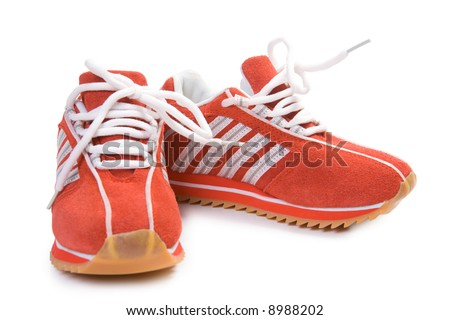 Fitness training shoes. Isolate on white. - stock photo