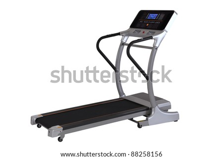 Fitness Walking Machine isolated on white background - stock photo