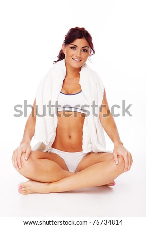 fitness woman during some yoga exercises