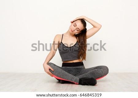 teen stretching Blonde