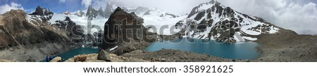 Fitz Roy viewpoint in Argentina - stock photo