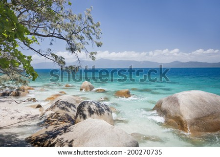 Fitzory Island  North Queensland Australia on a sunny day  - stock photo