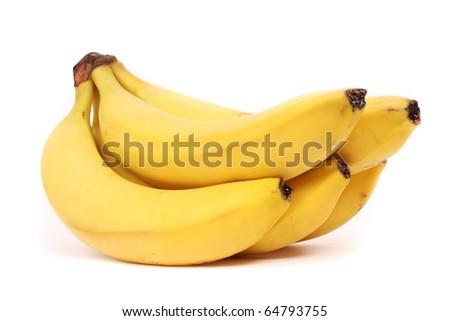 five bananas - stock photo