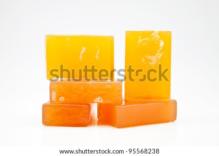 five bars of glycerin soap