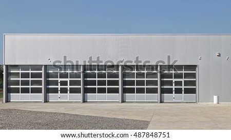 Five Big Doors at New Garage Service Building
