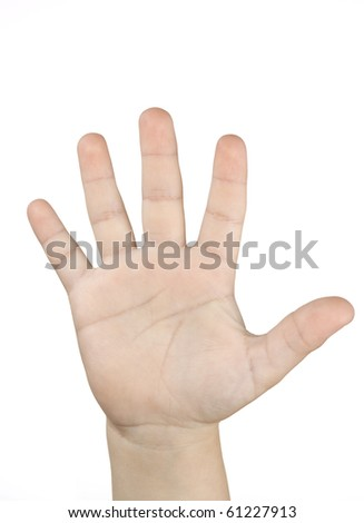 Five boy  fingers - stock photo