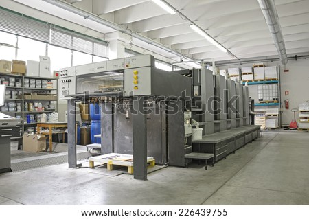five color offset press lithography machine