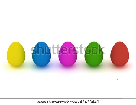 five easter-eggs in a row