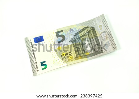 Five Euro banknote - stock photo