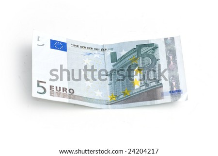 Five euro bill - stock photo