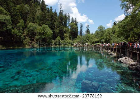 Five Flower Lake in Jiuzhaigou Valley (Sichuan, China)