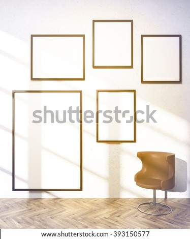 Five Frames Different Sizes On White Stock Illustration 393150577 ...