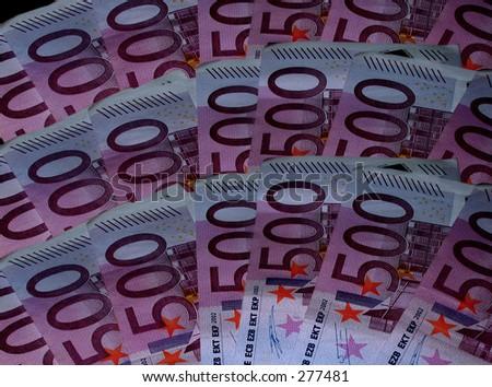 Five hundred euro background - stock photo
