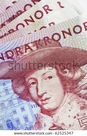 five hundred swedish crowns - stock photo