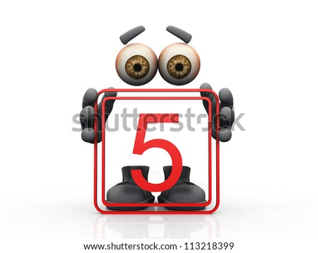 five  logo and  invisible man - stock photo