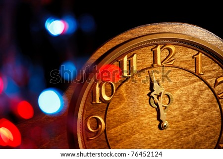 five minutes to New Year - stock photo