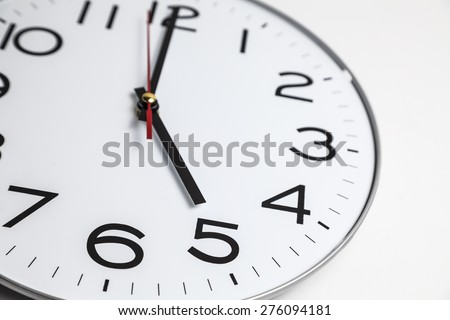 Five o'clock - stock photo