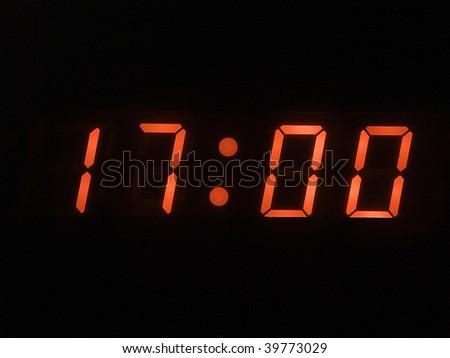 five o clock pm - stock photo