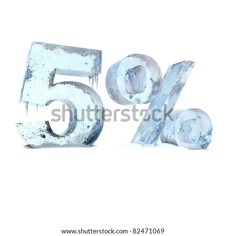 five percent of the ice - stock photo