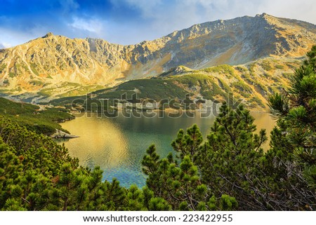 Five Ponds Valley, Tatra Mountains, Poland - stock photo
