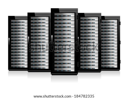 Five Serves - Information technology conceptual image  - Raster Version - stock photo