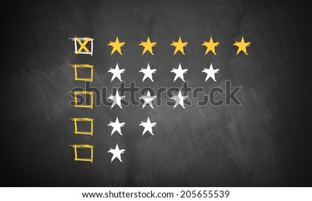 five star rating  - stock photo