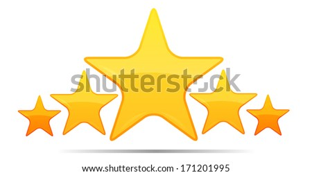 Five Star Rating - Illustration - stock photo