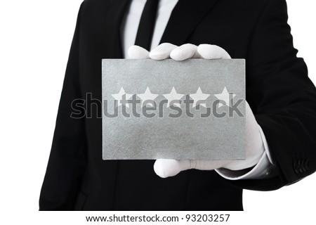 Five star service - stock photo
