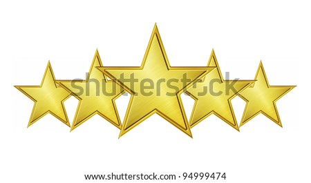 Five star service isolated on white background