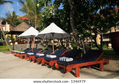 Five Stars Hotel Swimming Pool - stock photo
