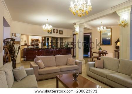 Five stars Luxurious Hotel Lobby - stock photo