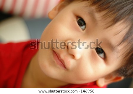Five-year old Chinese boy in Penang, Malaysia - stock photo