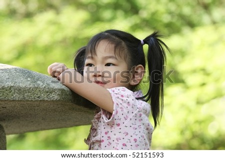 five-year-old girl - stock photo