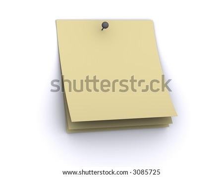 Fixed Notes - stock photo