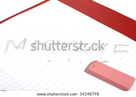 Fixing a Mistake - stock photo