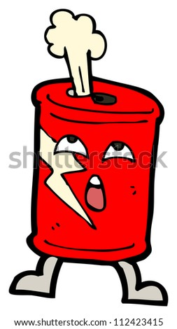 fizzy soda can cartoon - stock photo