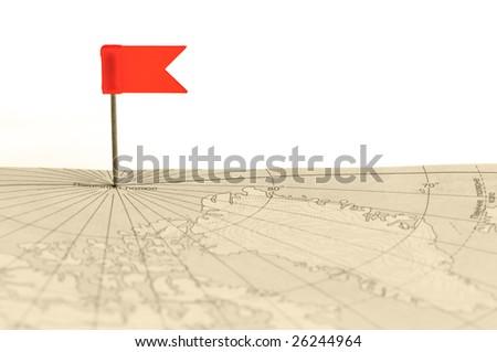 Flag a pin - stock photo