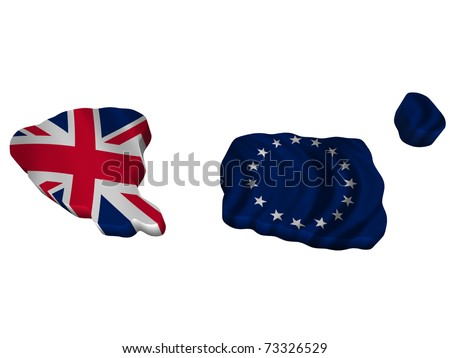 Flag and map of Cook Island - stock photo
