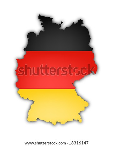 flag and map of Germany on white background