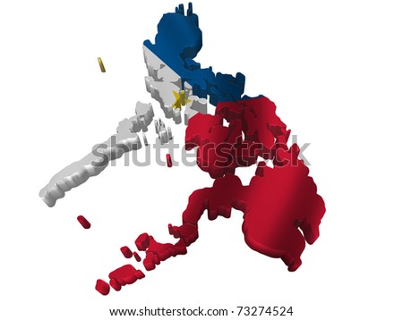 Flag and map of Philippines