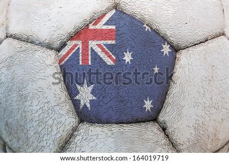 flag australian soccer - stock photo