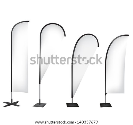 Flag banner stand display - stock photo