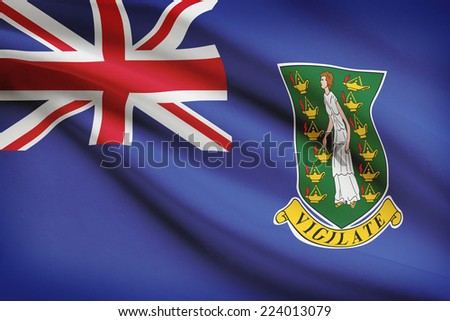 Flag blowing in the wind series - British Virgin Islands - stock photo